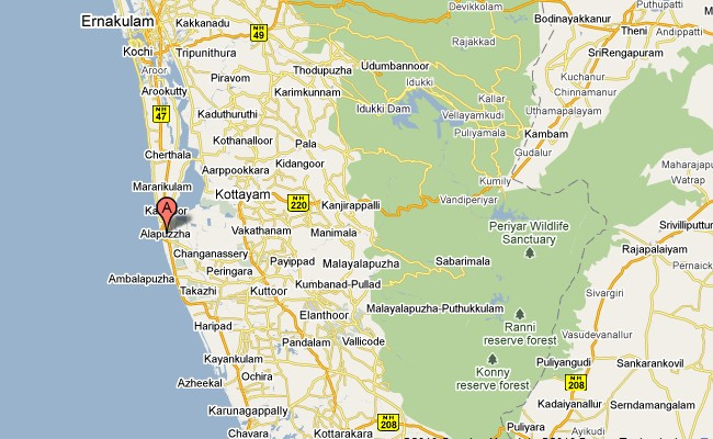 Alleppey Map
